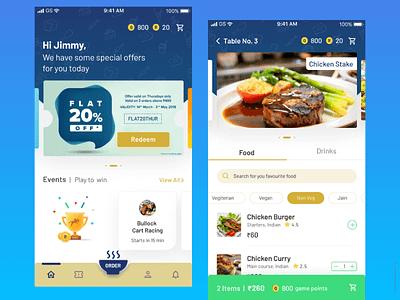 Derby Restobar App - Mumbai, India food app dining betting app ui design ux strategic design ios app design ios app ios
