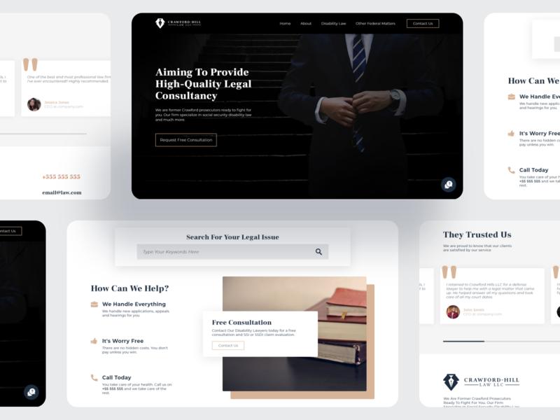 Law firm website design design home form info customer homepage website concept ui web design website web firm law law firm lawfirm