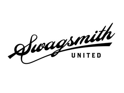 Swag swag script lettering s custom logo