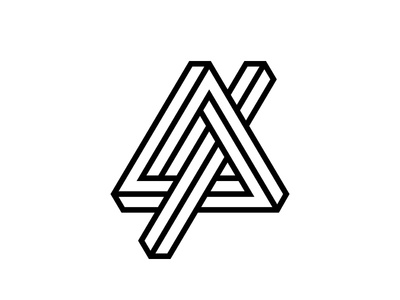 A triangle impossible geometry logo icon mark