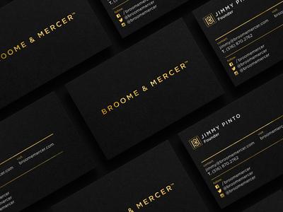Broome & Mercer Business Cards broome mercer monogram m b branding watch business card
