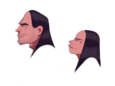 Profile Studies character design illustration drawing