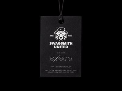 Swagsmith United™  Hang Tag logo branding clothing beret tiger hang tag