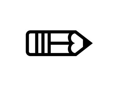 Pencil tool school icon
