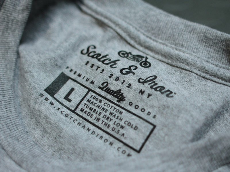 Scotch & Iron Tags scotch iron shirt tag logo bike