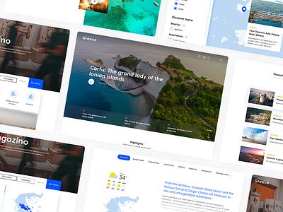Discover Greece redesign ui landmarks island greece discover ui design minimal