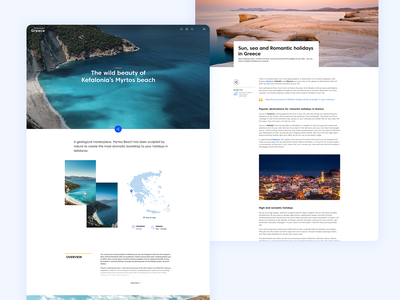 DiscoverGreece.gr Redesign responsive hotels booking summer island greece discover blog ui redesign vacations tour guide travel clean design system ui design
