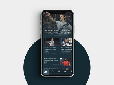 Sport Portal Mobile App user interface micro interaction mobile app ios iphone football sport app navigation animation