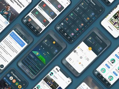 Gazzetta iOS App football app blog standing live score apple ios news sports ui design application iphone mobile app animation