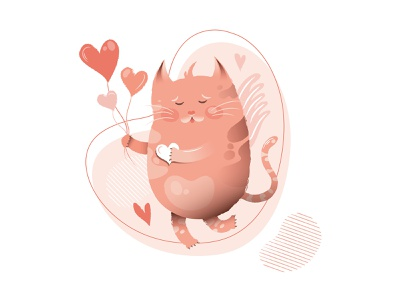 Be my Valentine valentines day lovely sweety sweet love valentine day valentine cat kids illustration design cute vector adobe illustrator character design character digital art illustration digital illustration
