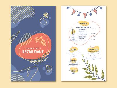 restaurant menu template wine menu wine summer menu summer menu template template design template menu restaurant restaurant menu bar bar menu branding design vector adobe illustrator digital art illustration digital illustration