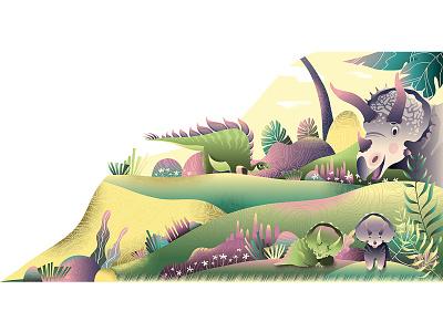 Dinosaur palm triceratops wacom summer plant kid sleep dinosaur dino adobe photoshop kids illustration vector cute design adobe illustrator character design character digital art illustration digital illustration