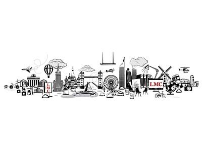Cityscapes berlin moscow london rome vector city illustration cityscape city architecture adobe illustrator design illustration digital illustration digital art