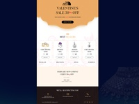 Valentine's Offer E-Mail Template Design for Jewellery Shop