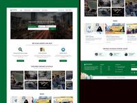 Landing Page Mockup Design for Driving School