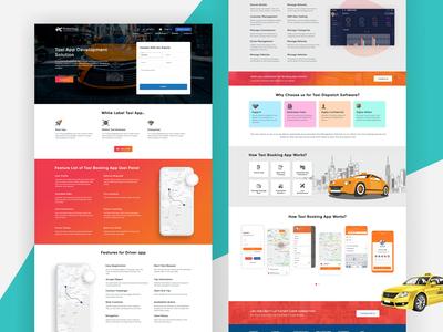 Online Food Delivery Order Landing Page Design