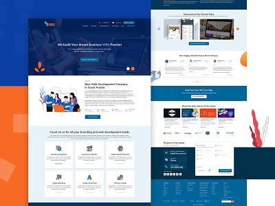 Website Template Design for IT Company web ux design website homepage homepage design template design web template web templates web design website design webdesign