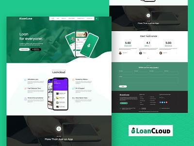 Landing / Home Page Design for Loancloud icon design ui design logo branding ux ui