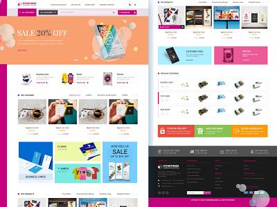 ISTANTANE Professional Printing Mockup Design designer home page landing design web design graphic design mockups landingpage ui design ui ux design