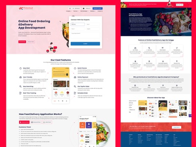 Online Food Ordering and Delivery App Development Landing Page app ui app icon mobile app development mobile app design app development company app development app design websites website builder website design webdesign landing page landing page design landing design landingpage design app