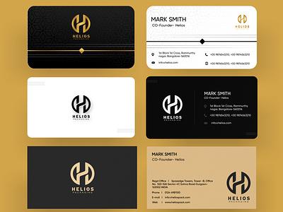 Visiting Card Designs for Helios ui design ui ux vector design visiting cards visiting card visiting card design visit card visitingcard graphic graphicdesign graphic design