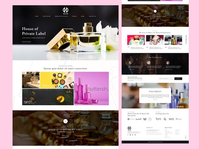Web Mockup Design for Helios Perfume Website mockup psd mockup template mockup design web design homepagedesign homepage design home page design ux graphic design web ui design illustration design