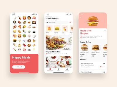 Online Food Ordering App UI Design application design food delivery app food app design app designer app design app ui design graphic design ux ui