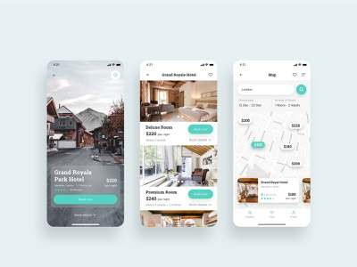 Hotel Room Booking App Design for Grant Royale Park Hotel graphics graphicdesign ux designer ux design app design app ui design mobile app design graphic design ui design