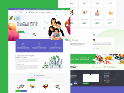 Sale Medicine Web Template