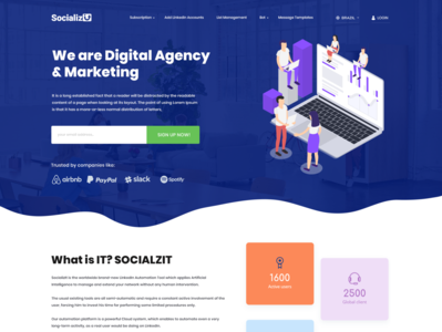 Web Template for Socializ Digital Marketing Agency