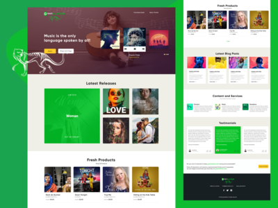 Green Elation: A Music Web Template