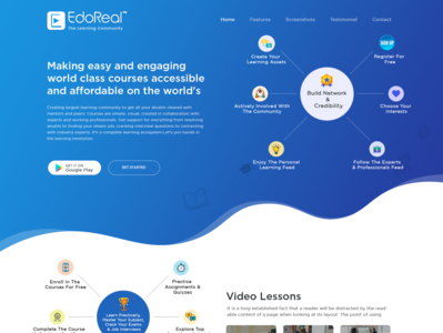 Landing Page Template for EdoReal
