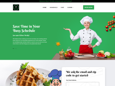 Home Page Design For Booking Online Cook