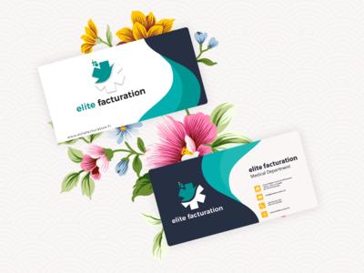 Business Card Design for Elite Facturation