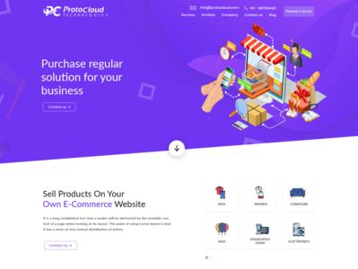 eCommerce Landing Page Mockup
