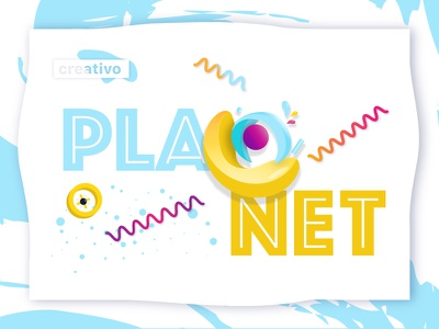 Planet Creativo banner branding planets color space