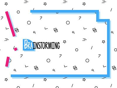 BrainStorming pattern banner brainstorming minimalistic