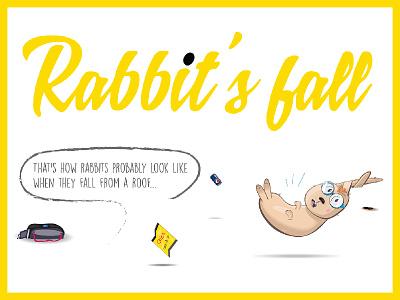 rabbit'sFall falling vector illustration yellow rabbit