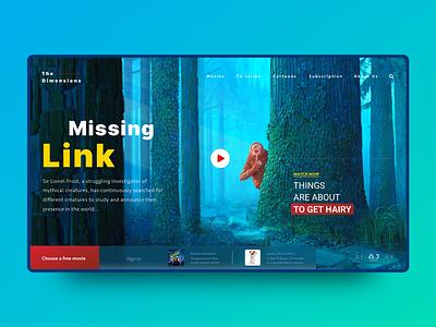 The Missing Link Cartoon Banner movie online free ux ui header banner cartoon