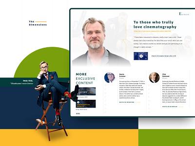 The Dimensions Platform Exclusive Content behance movies ux ui presentation banner