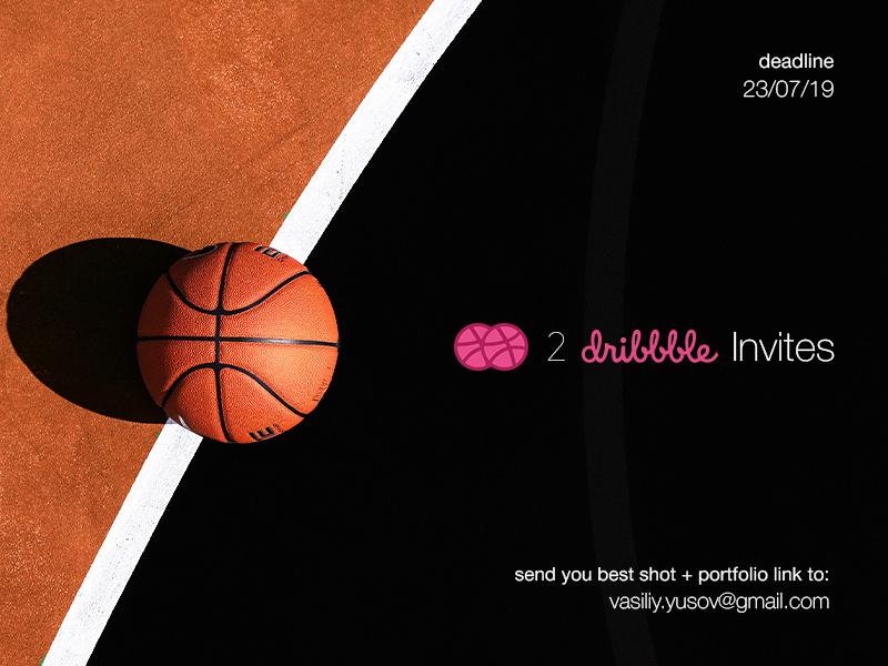 2 Dribbble Invites dribbble invite draft invites