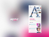 Noise Music app articles section & search animation