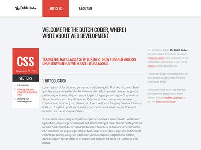 The Dutch Coder website web design homepage site clean blog