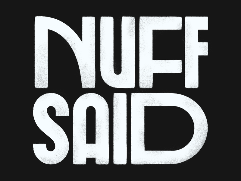 Nuff Said lettering type daily type design blm stan lee procreate typography design type