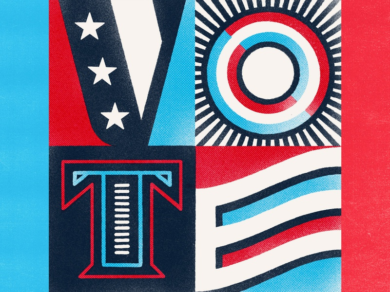 VOTE voting election illustration type typography