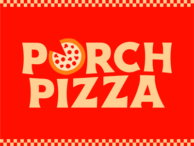 Porch Pizza Branding branding type design homegrown restaurant pizza indianapolis local identity logo design type typography