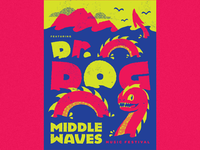 Middle Waves Music Festival Poster