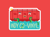 Indy CD & Vinyl Sticker - Monon Bridge