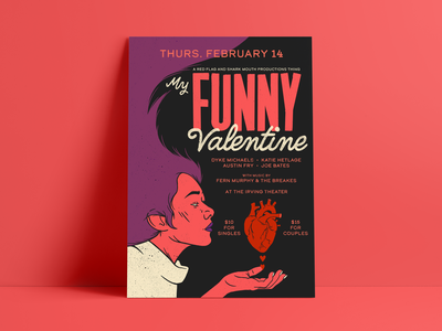 My Funny Valentine Show Poster procreate valentine comedy typography illustration poster