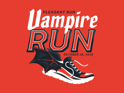 Unused Vampire Run Shirt Design
